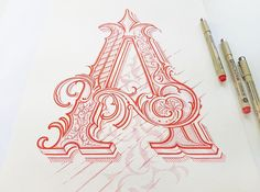 Typography Hand Lettering III on Behance Lettering Fonts Design, Hand Lettering Styles, Tattoo Lettering Fonts, Hand Drawn Lettering, Creative Lettering, Creative Art, Typography Fonts, Beautiful Lettering, Drawing Letters