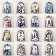 Hot Women Long Sleeve Print Hoodie Jacket Coat Sweatshirt Outwear Top Pullover | eBay