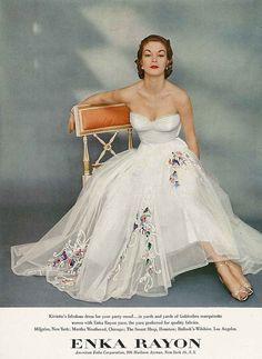 Beautiful vintage white dress c. 1951.