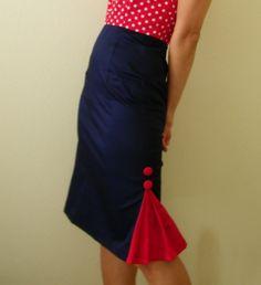 Helen Custom Skirt. Sailor chic.