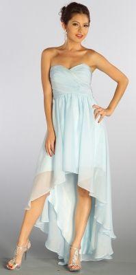 Baby Blue Sweetheart Neckline High-Low Strapless Dress [v1030u2325] - $139.99 : Cheap Dresses Online - Buy Evening Dresses,Party Dresses Online
