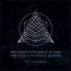 """Geometry is knowledge of the eternally existent."" Pythagoras."