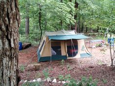 """Vintage Hillary Tentse   Another view of the lower """"back yard camping"""" area. There is an old ..."""