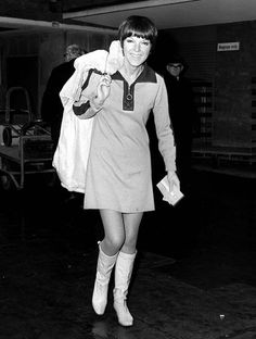 Mary Quant was credited for designing the mini-skirt and mod fashion.