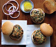 Turkey Spinach Sliders | Bon Appetit         Turkey Spinach Sliders Recipe  at Epicurious.com