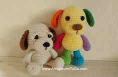 New members of the Little Bigfoot gang, Scraps and Scooter. I made Scraps (the multi-colored puppy) late last night after being inspi...