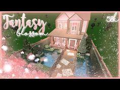 -Fantasy Blossom Cottage- Nixilia - Bloxburg Speedbuild - YouTube Two Story House Design, Tiny House Layout, Unique House Design, House Layouts, Modern Family House, Family House Plans, Home Building Design, Building A House, Tiny House Bedroom