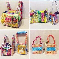 サプライズや景品にぴったり!韓国発のお菓子バッグの作り方   marry[マリー] Diaper Bag, Diy And Crafts, Lunch Box, Presents, Anniversary, Packaging, Birthday, Party, How To Make