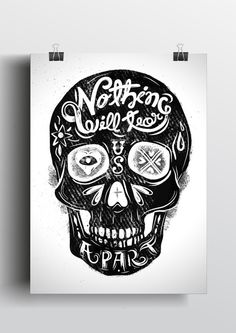 Nothing Will Tear Us Apart by Filipe Lizardo, via Behance