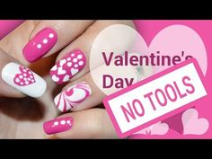 DIY Valentine's Day Pink Heart! Without any Tools - Nail Art Tutorial to Paint your Nails at Home! - http://47beauty.com/nails/index.php/2016/08/01/diy-valentines-day-pink-heart-without-any-tools-nail-art-tutorial-to-paint-your-nails-at-home/ http://47beauty.com/nails/index.php/nail-art-designs-products/  Learn howto do a Valentine pink heart with this short Valentine's Day nail art design tutorial without any nail art tools!  Watch this video to see how to do a water m