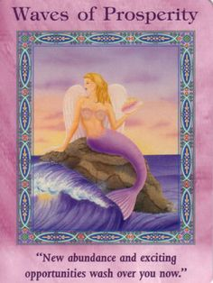 This card is a symbol of new abundance and exciting opportunities! The mermaid's wings can take her on a flight…
