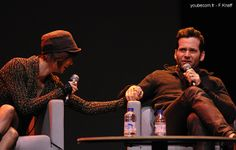 Keegan Connor Tracy & Eion Bailey - Fairy Tales convention in Paris 2013