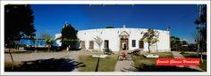 """Former hacienda of the Holy Trinity, today dedicated to the museum of the """"Division of the North"""", in the town of La Loma de La Laguna. (Antigua hacienda de la Santísima Trinidad, hoy dedicada al museo de la """"División del Norte"""", en el poblado de La Loma de La Laguna):"""