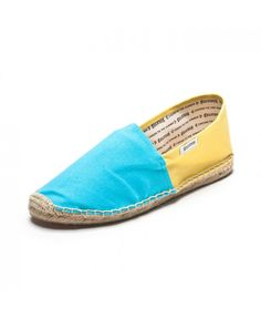 Color Block - Neon Blue & Lemon Espadrilles for Women from Soludos - Soludos Espadrilles