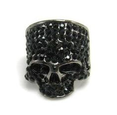 The Star of A Full drilling Skull Ring Texture Character Cluster Ring DC11R501 $3.00