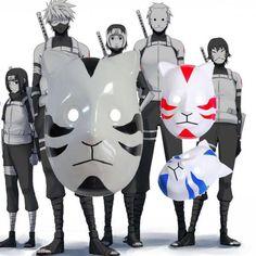 Anime Naruto ANBU Ninja Mask Cool Party Halloween Cosplay Costume Fancy Dress