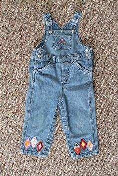 My daughter is twenty-months-old and just grew out of her pair of 24 month overalls. Usually when she grows out of clothes I wash them, fold...