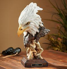 Pottery Sculpture, Bird Sculpture, Animal Sculptures, Woodworking Art Ideas, Hawk Bird, Eagle Art, Eagle Head, Mural Art, Art Art