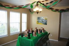 Army themed party for boys