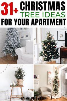 love these apartment christmas tree ideas!! so festive and cute Tabletop Christmas Tree, Home Decor, Decoration Home, Room Decor, Interior Design, Home Interiors, Interior Decorating