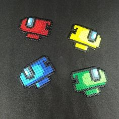 Easy Perler Bead Patterns, Melty Bead Patterns, Perler Bead Templates, Beading Patterns, Loom Beading, Pearler Beads, Fuse Beads, Pixel Art, Plastic Bead Crafts