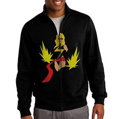 NHJH Mens Ms Marvel ZipUp Sweatshirt Jacket Black Size XL -- Details can be found by clicking on the image.