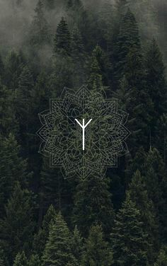 Viking Wallpaper, Witchy Wallpaper, Graphic Wallpaper, Wallpaper Backgrounds, Iphone Wallpaper, Wallpapers, Viking Symbols, Viking Art, Viking Runes