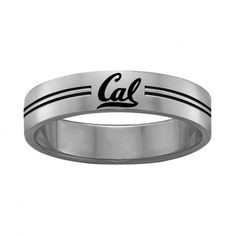 California Berkeley Golden Bears Rings Stainless Steel 8MM Wide Ring Band Size 11.5