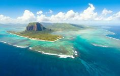 Mauritius...with an underwater waterfall!!