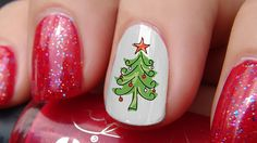92 Best Christmas Nail Art Decals Images On Pinterest In 2018