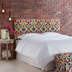 Bought this fabric today!!!!!!!!!!!!Waverly Santa Maria Desert Flower upholstered headboard....