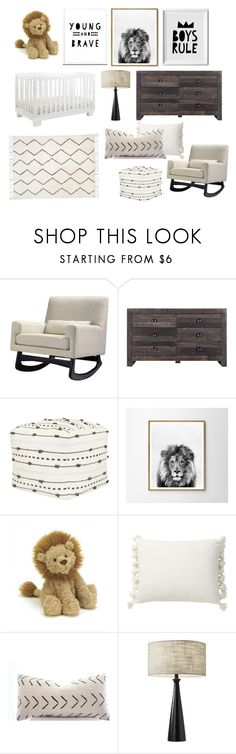 """""""baby boy nursery 2"""" by breecardiel on Polyvore featuring interior, interiors, interior design, home, home decor, interior decorating, Nursery Works, Moe's Home Collection, Nate Berkus and WALL"""