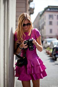 Chiara Ferragni Street Style Milan Fashion Week 2012