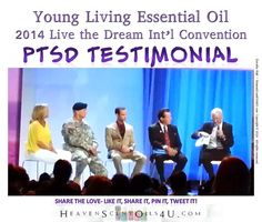 """Powerful PTSD Testimonial from Young Living Essential Oils 2014 Int'l Convention.  """"The ability of essential oils to act on both the mind and the body is what makes them truly unique among natural therapeutic substances. The fragrance of some essential oils can be very stimulating– both psychologically and physically.""""- D. Gary Young"""