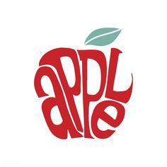 Amazing Logo Design Typography will be the fine art and Apple Illustration, Pattern Illustration, Character Illustration, Apple Word, Inspiration Typographie, Word Drawings, Web Design Examples, Illustrated Words, Creative Logo