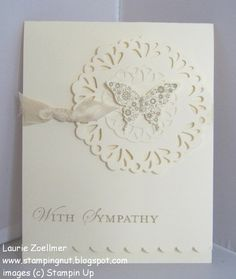Stampin' Up! CAS Card by  Laurie's Stampin' Spot: Papillon Potpourri Sympathy Card