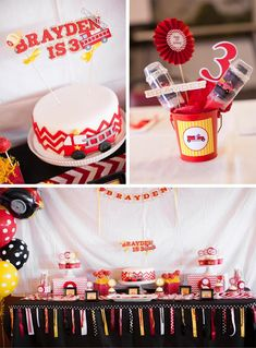 Fire Truck Themed Birthday Party with Lots of Really Cute Ideas via Kara's Party Ideas | KarasPartyIdeas.com #FiremanParty #FiretruckParty