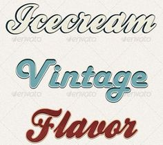 This set includes 10 different text styles, and every style has a unique vintage look.