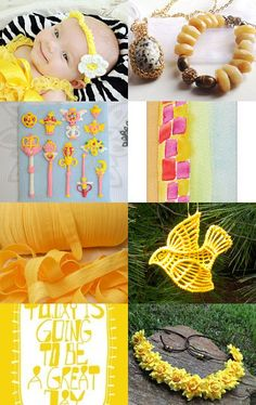 summer yellows by Tsvia Shindler on Etsy--Pinned with TreasuryPin.com