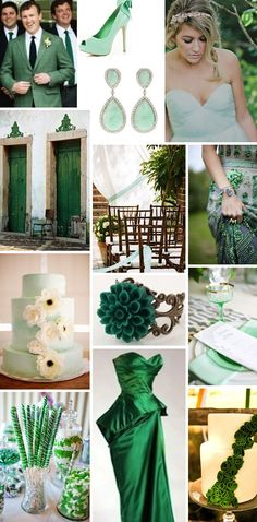 Green Silver & White Wedding Theme. Can get some very good idea\'s to ...