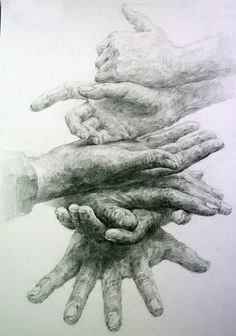"""My Hand 2"" by Dong Won Kim, pencil drawing. indiart3612.deviantart.com"
