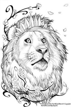 Oz 11 Cowardly Lion By ToolKitten Cartoons Comics Traditional Media Other The B Version Cover For Legend Of Wicked