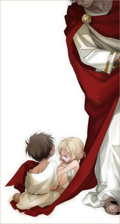 Rome with France and Spain -Hetalia