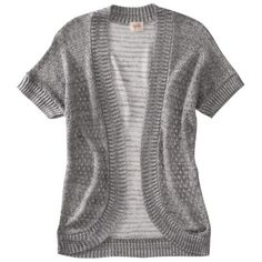 Mossimo Supply Co. Juniors Short Sleeve Sweater - grey in small Short Sleeve Cardigan, Mossimo Supply Co, Grey Sweater, Cute Outfits, Colors, Sweaters, Outfit Ideas, Clothes, Shopping