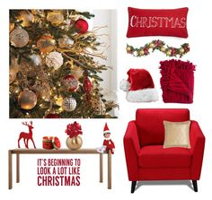 """""""Christmas Decor"""" by alynncameron ❤ liked on Polyvore featuring interior, interiors, interior design, home, home decor, interior decorating, Blu Dot, Woven Workz, Lily-Flame and Sixtrees"""