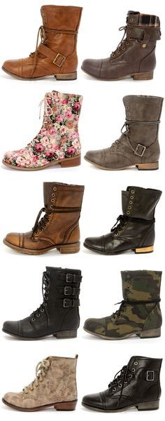 Every girl needs combat boots! You can wear them with everything! Shorts, dresses, skirts, skinnies.
