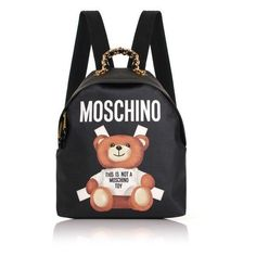 97349f3f06f5 Moschino Bear Mini Backpack ❤ liked on Polyvore featuring bags
