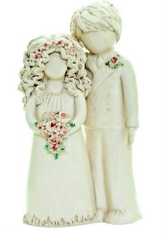 Barbara Lea Pottery - Cute Bride and Groom www.barbaraleapottery.com