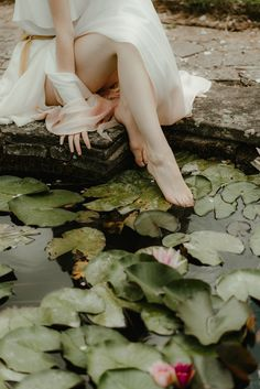 Been thinking a tremendous amount about souls and how they intertwine. (The Artist's Muse Editorial at Broadfield Court, Cotswolds) . Princess Aesthetic, Lily Pond, Pink Tone, Aesthetic Pictures, Aesthetic Wallpapers, Character Inspiration, Photoshoot, Green, Photography