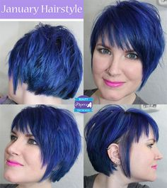 Phyrra - how to grow out a pixie cut. Love the cut! The colour looks great on her - not quite me though. :-)
